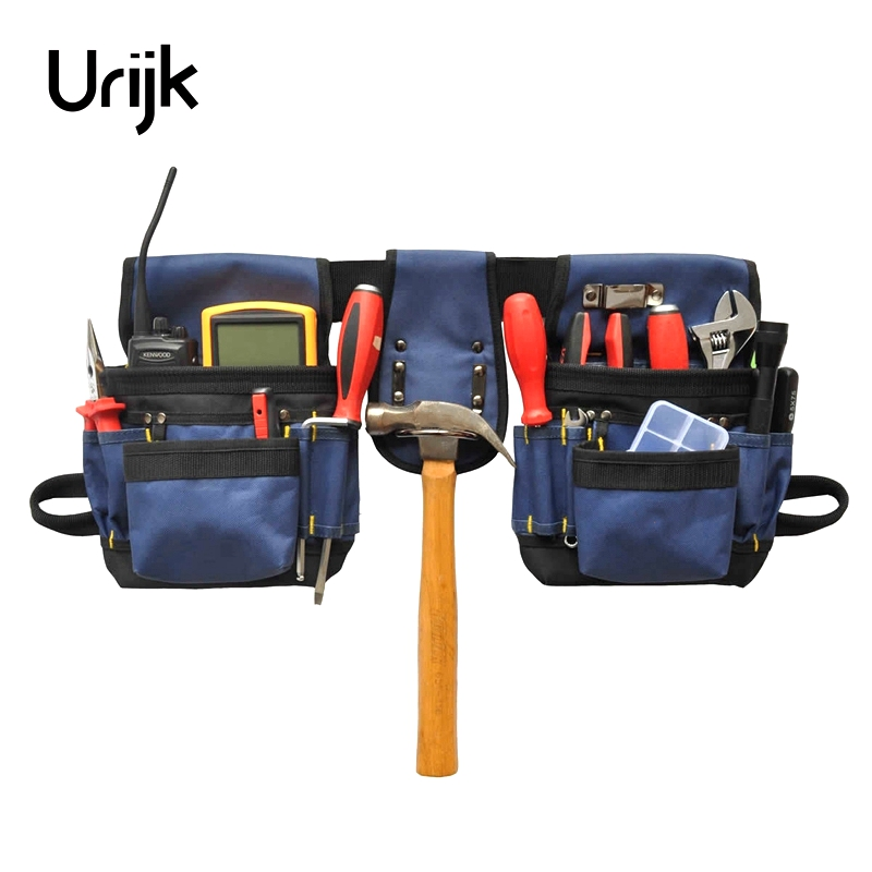 Urijk High Quality 600D Oxford Cloth packet Electrician Storage Tools Waist Belt bags Hardware Electrical Tool Bags oxford cloth durable waterproof tools container storage waist bag with belt electrical tools bag 24x20cm 9 45x7 87