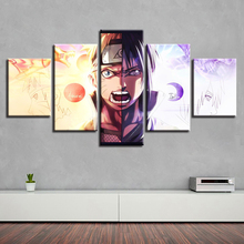 Modular Painting Frame Wall Art 5 Panel Cartoon Anime Naruto VS Sasuke Poster HD Printed Canvas Pictures Kids Room Home Decor