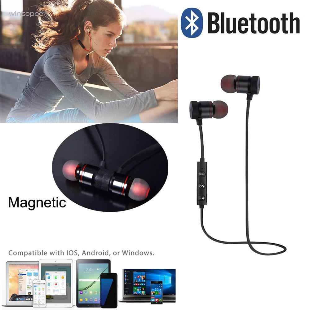 Hearphone Bluetooth 4.1 Wireless Headphone Stereo Sports Earbuds  Headset With microphone noise cancelling for mobiles august epa20 bluetooth cap winter beanie hat with stereo speaker and microphone wireless headphone earphone for outdoor sports