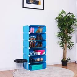 Giantex 6 кубическая портативная полка для обуви шкаф для хранения шкаф Органайзер домашняя мебель HW54797