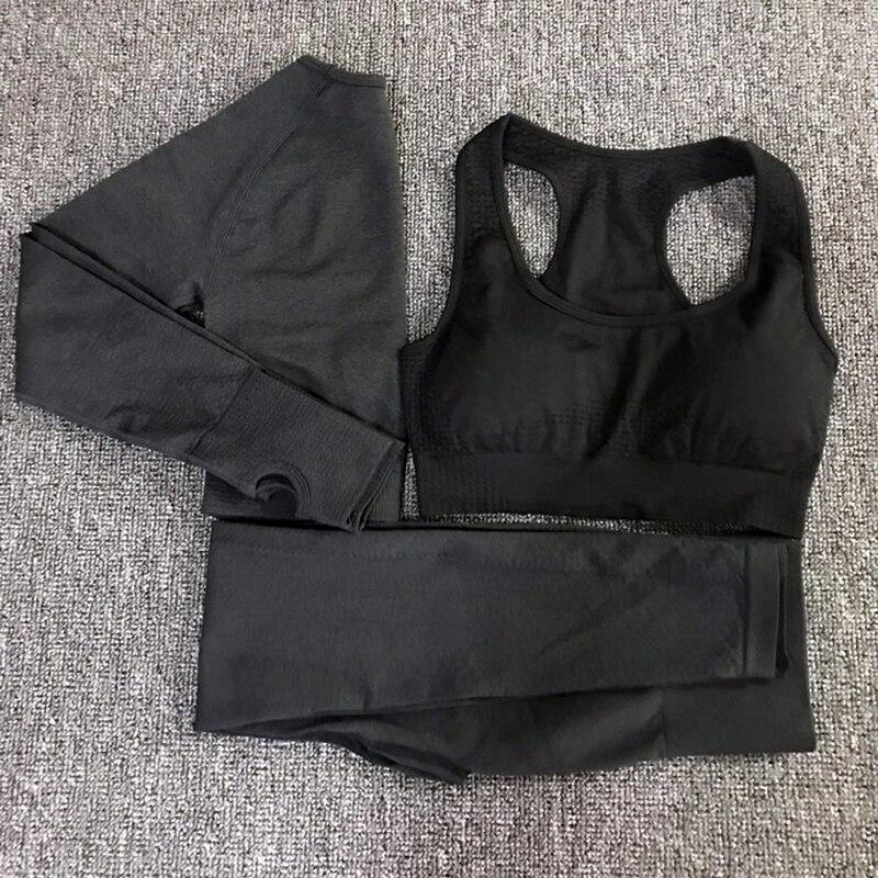 3pcs vital seamless yoga set women workout clothes vital bra long sleeve tops leggings fitness gym set women womans sport wear (4)