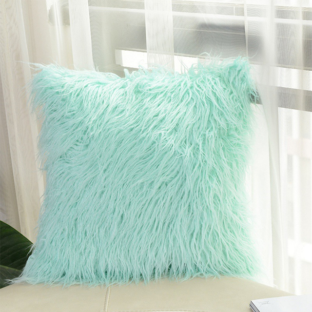 Free Shipping Fluffy Plush Cushion Cover For Sofa, Bed, Living Room Home  Decor Pillowcover