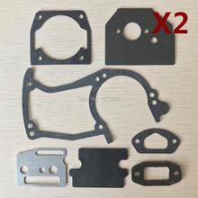 2 sets 45cc 52cc 58cc chainsaw paper gaskets full set