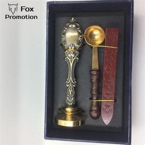 Image 1 - Caja de regalo de sello de cera personalizada cuchara de latón de sello de cobre, juego de sellos de sello antiguo de regalo de liga de bricolaje, vintage y de alta calidad