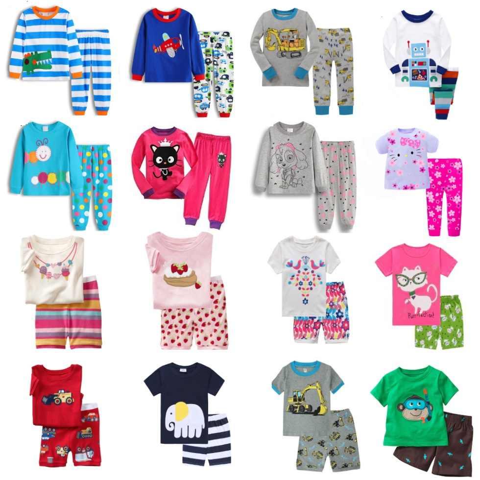 5f3cda53766d Hooyi Baby Boys Pajamas Suit Girls Sleepwear Sleep Suits Kids T-shirts  Pants Children pyjama