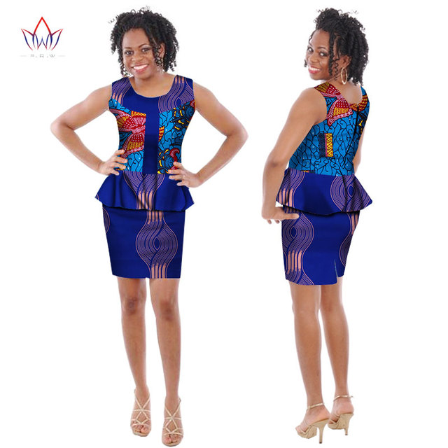 2018 New Arrival African Sets For Women Dashiki Cotton Print Crop Top and  Skirt Bazin Plus Size Africa Clothing WY210 106f9ad28249