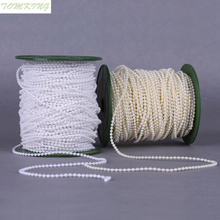 15m of 5mm Bead Pearl String Ivory and white for Craft , Wedding Decoration
