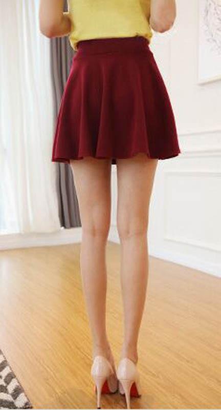 Nouveau Style Coréen Femmes A-ligne Jupe Plissée Mini Style De La - Vêtements pour femmes - Photo 4