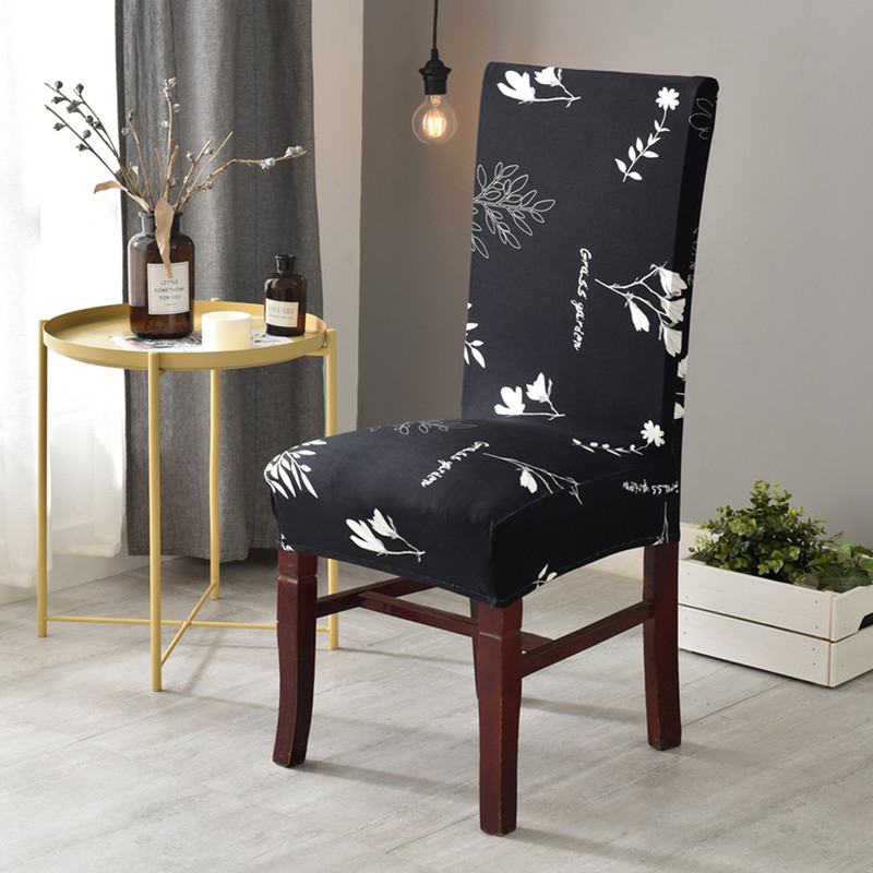 Elastic Printing Dining Chair Slipcover Modern Removable Anti dirty Kitchen Seat Case Stretch Chair Cover for Banquet in Chair Cover from Home Garden