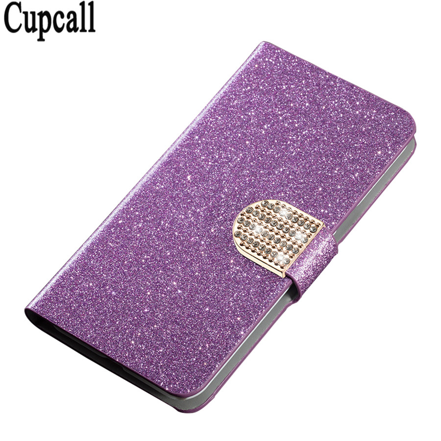 Genuine Brand Bling Shiny Leather Phone Case Magnetic Flip Card Cover For Samsung Galaxy