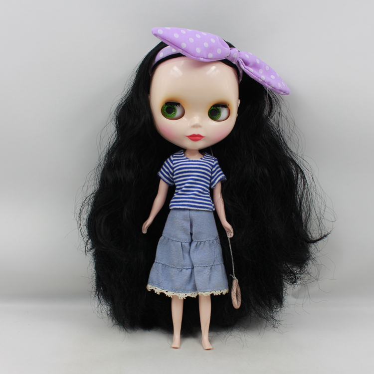 Nude Bonecos NEO Blyth doll Princess black long hair big eyes DIY doll toys baby dolls for girls nude princess blyth doll bjd 1 6 big eyes b female long brown hair with bangs pink cheek and lip diy bjd dolls for sale