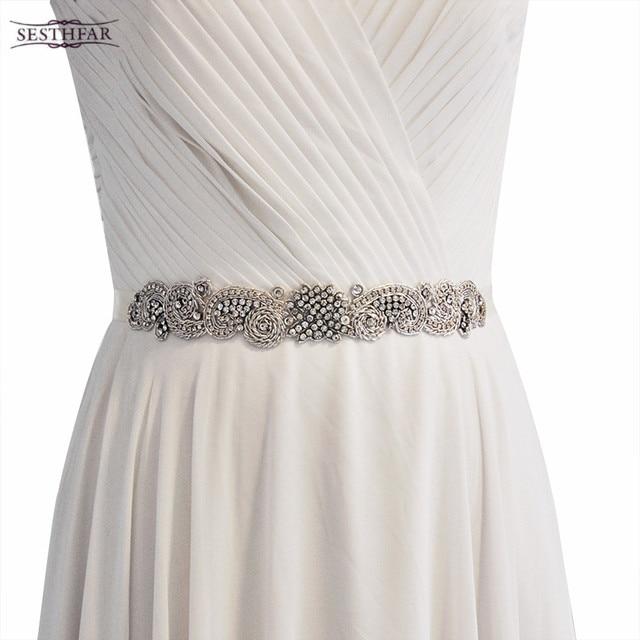 Womens Fashion Diamond Bridal Belt Wedding Accessories Formal Dress