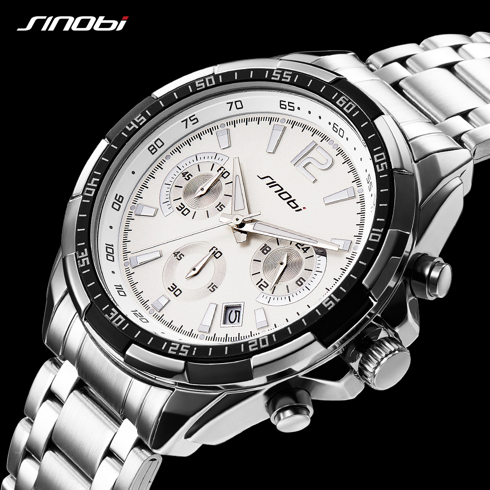 08002d5fe61 SINOBI Mens Watches Top Brand Luxury Quartz Watch Fashion Unique Sports  Design AAA Watch Male Watches