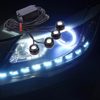 Hight Quality Ultra Bright Car Lights Drag Four 4 X 1 5W Auto Strobe Flash Lamp