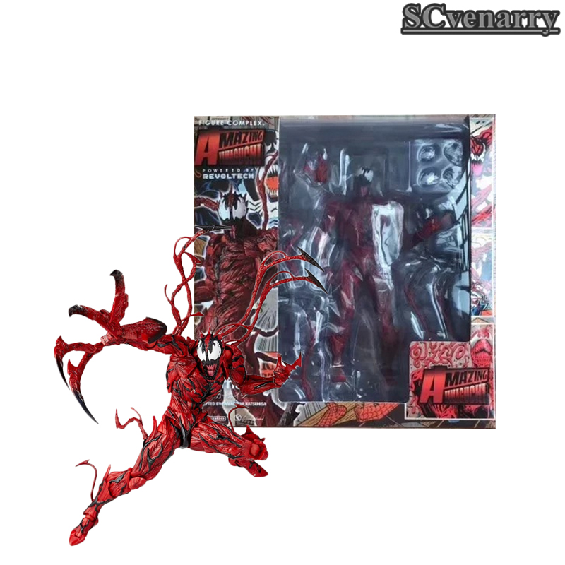 Red Venom Carnage in Movie Marvel The Amazing SpiderMan BJD Joints Movable Action Figure Model Toys