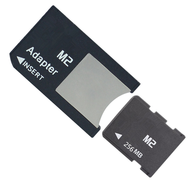 Купить с кэшбэком 100pcs/lot 64mb 128mb 256mb 512mb M2 memory card Memory Stick Micro with Free M2 Card Adapter MS PRO DUO