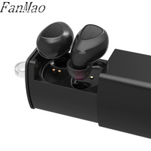 TWS Mini Bluetooth Casque avec Télescopique De Charge Boîte Invisible Binaural Sans Fil Earhpone Stéréo casque IOS Xiaomi Andrews