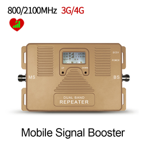Image 2 - Special Offer!LCD display Dual band 3G4G 800/2100MHz mobile signal booster Cellular signal amplifier 3g 4g repeater Only booster