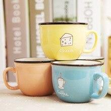 Zakka Kreative und praktische kleine frische candy farbe keramik-tasse