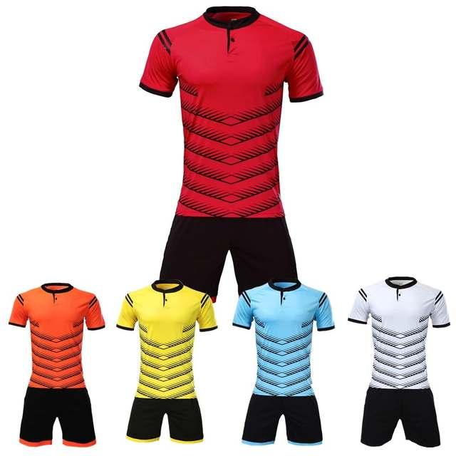 Hearuisavy Football uniform Breathable Men s Youth Soccer Jerseys Kit  custom survetement football 2018 Training suit c22551239
