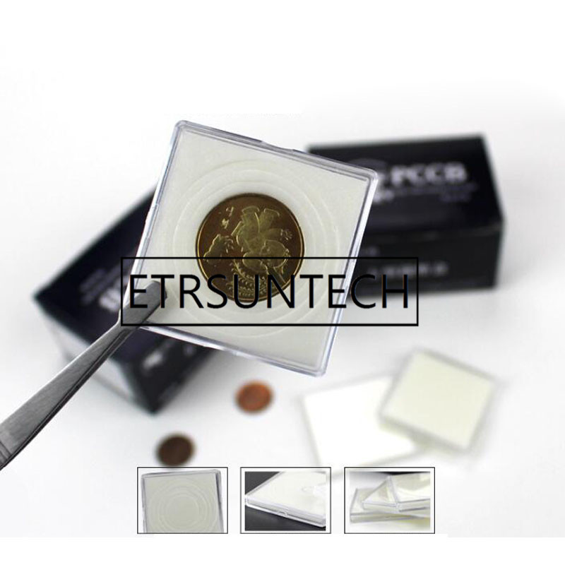 500Pcs lot Coin Square Storage Box Display Variety Diameter Plastic Box Coin Holder Capsules Container Coin
