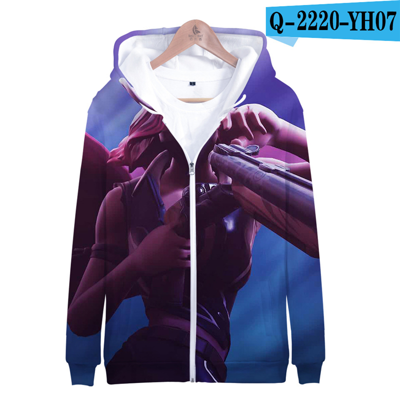 3D Hoodie Fortnight Zipper Costume Hoodies Children Battle Royale Clothings 2019 Popular Clothings Popular Clothes Kid Clothings