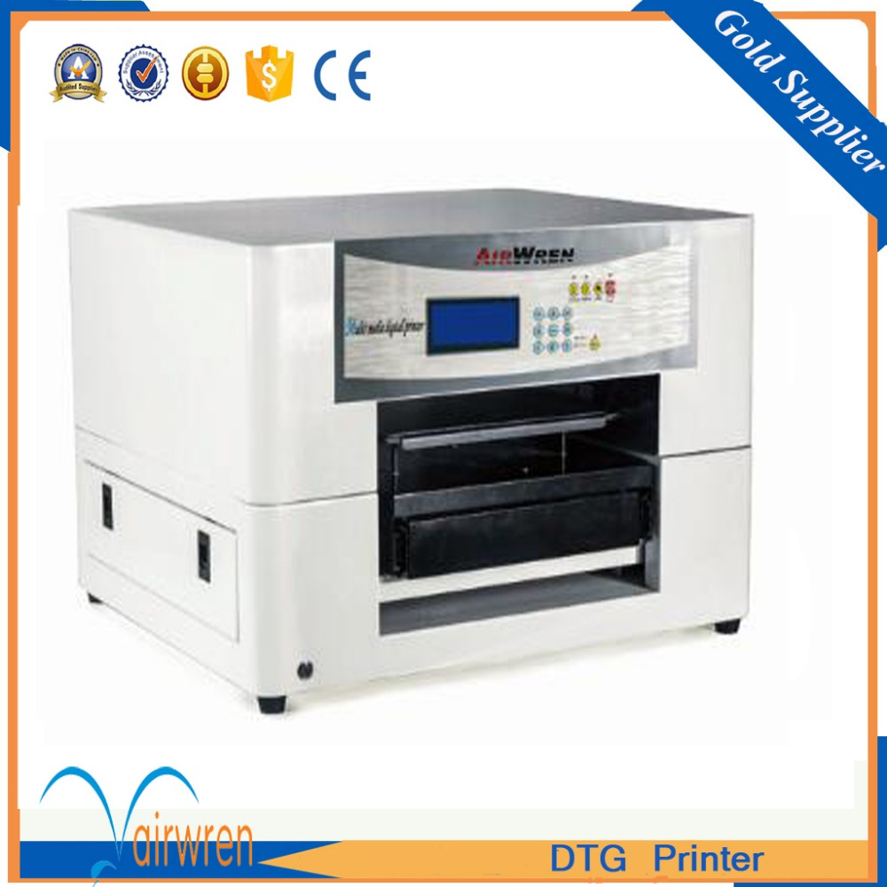 a3 t shirt DTG printing machine  direct to garment printer with acroRIP software high quality dtg flatbed printer small size textile t shirt printing machine