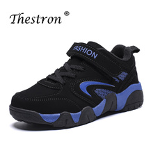 Thestron Spring Children Walking Sneakers Boys Blue Black Sport Shoes Comfortable Kids Shoe Wearable Big Boy