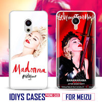 For MEIZU Meilan M3 M3S M3e M5 M3Note M5Note MX6 M3X U20 PRO5 PRO6 PRO6S Madonna Pop Star Sexy Singer Phone Case Shell Cover Bag