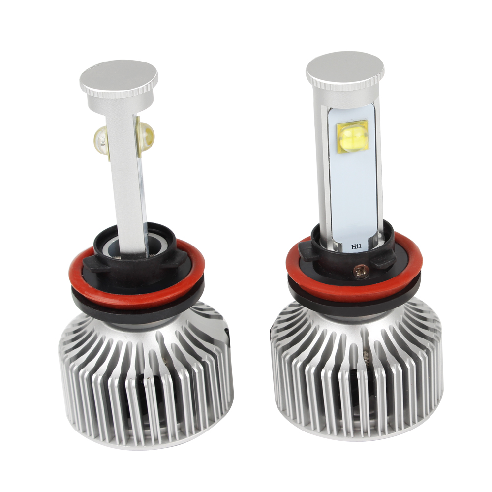 H11 Headlight Car Styling All-in-one Version of X7 LED 40W/Each Bulb #HP all in one high low beam version of x7 led light source h13 car styling headlight 60w each bulb 6000k 4800lm icarmo