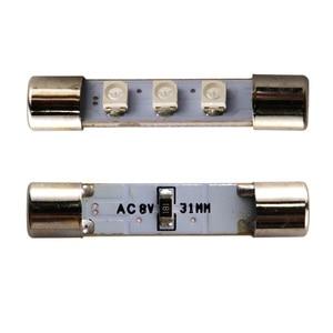 Image 2 - 50X AC 8V Audio attrezzatu ricevitore Luce della Lettura Del Festone T6.3 C5W 29 millimetri 31 millimetri 3 SMD 3528 1210 LED 3SMD luce della targa ha condotto la lampadina