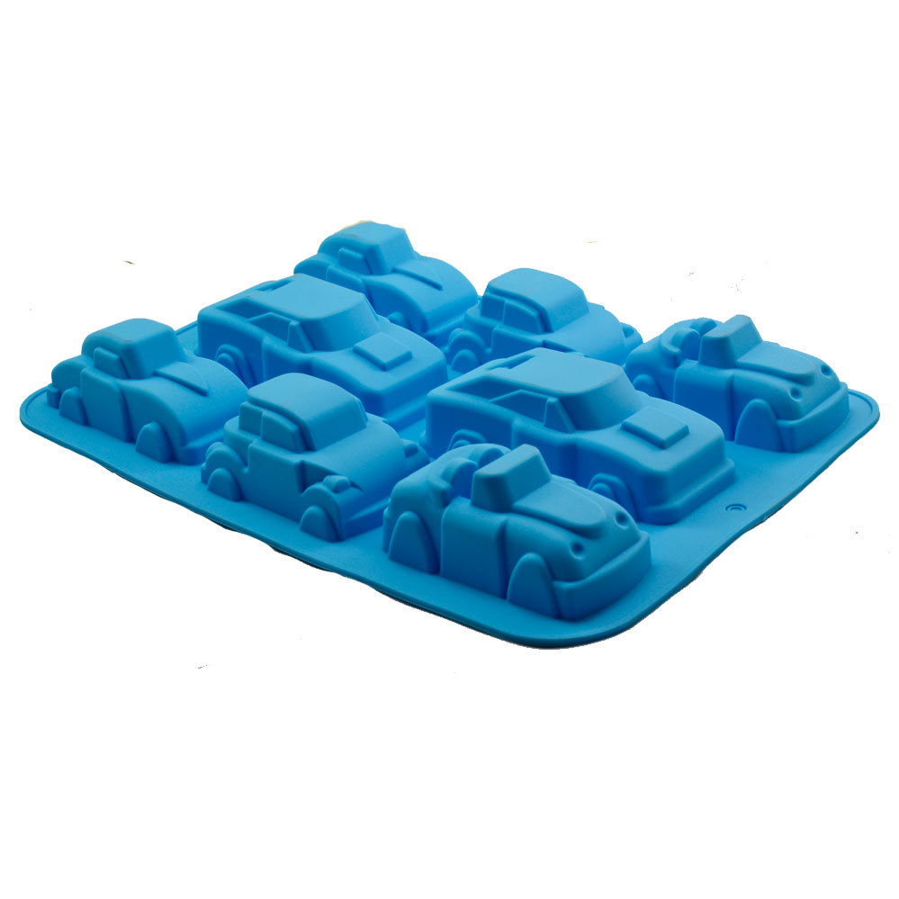 Factory direct selling wholesale automobile car shape silicone cake jelly pudding mold manual ice cube soap making silicone mold