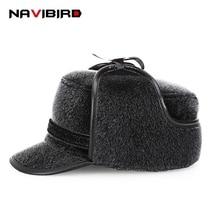 29751d13387 New arrival Faux Rabbit Fur Visors Hat Winter Cap Men 2018 Old Man Cap With  Tab