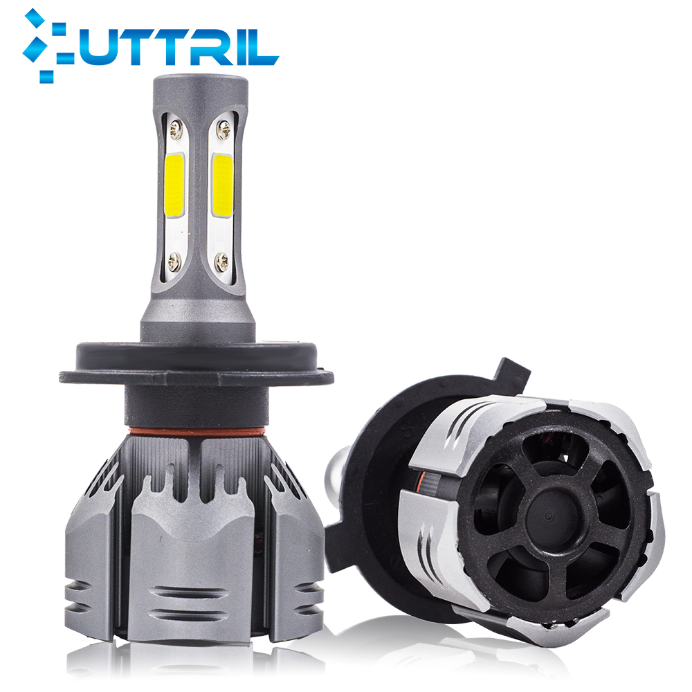 Uttril 10000LM H4 H7 H1 H11 <font><b>3000K</b></font> 4300K 6500K 8000K LED <font><b>Bulb</b></font> H3 H8 H9 9005 HB3 9006 <font><b>HB4</b></font> 880 881 H27 COB Car Headlight Fog Light image