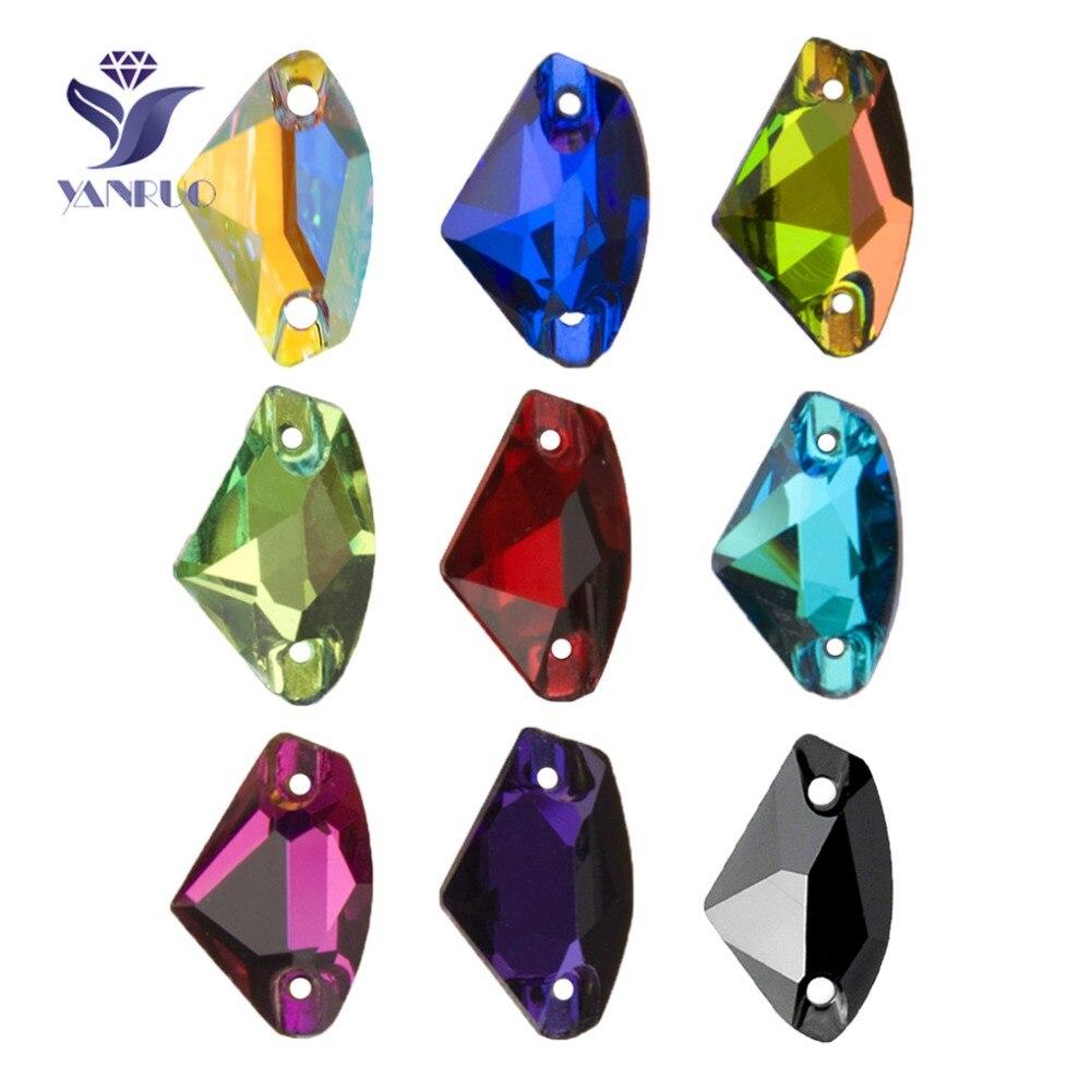 YANRUO 3256 galactique coudre sur cristal verre plat dos Strass couture Strass AAAAA pierres pour la décoration de la robe