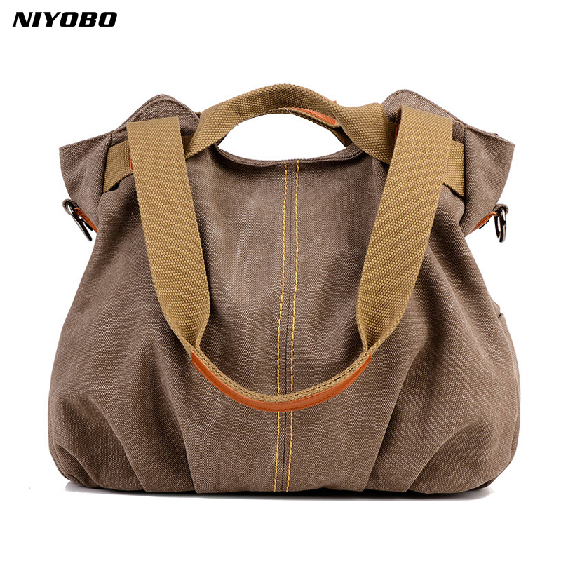 NIYOBO 2018 Casual Women Handbag Large Capacity Ladies Travel Totes Shoulder Bags Laptop Book Shopper Bag bolsa feminina high quality travel canvas women handbag casual large capacity hobos bag hot sell female totes bolsas ruched solid shoulder bag
