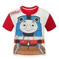 Moda Thomas & Friends T Shirt para Meninos e Meninas Do Bebê Dos Miúdos Dos Desenhos Animados Roupas Infantis Impressão Agasalho Crianças Traje Pokemon