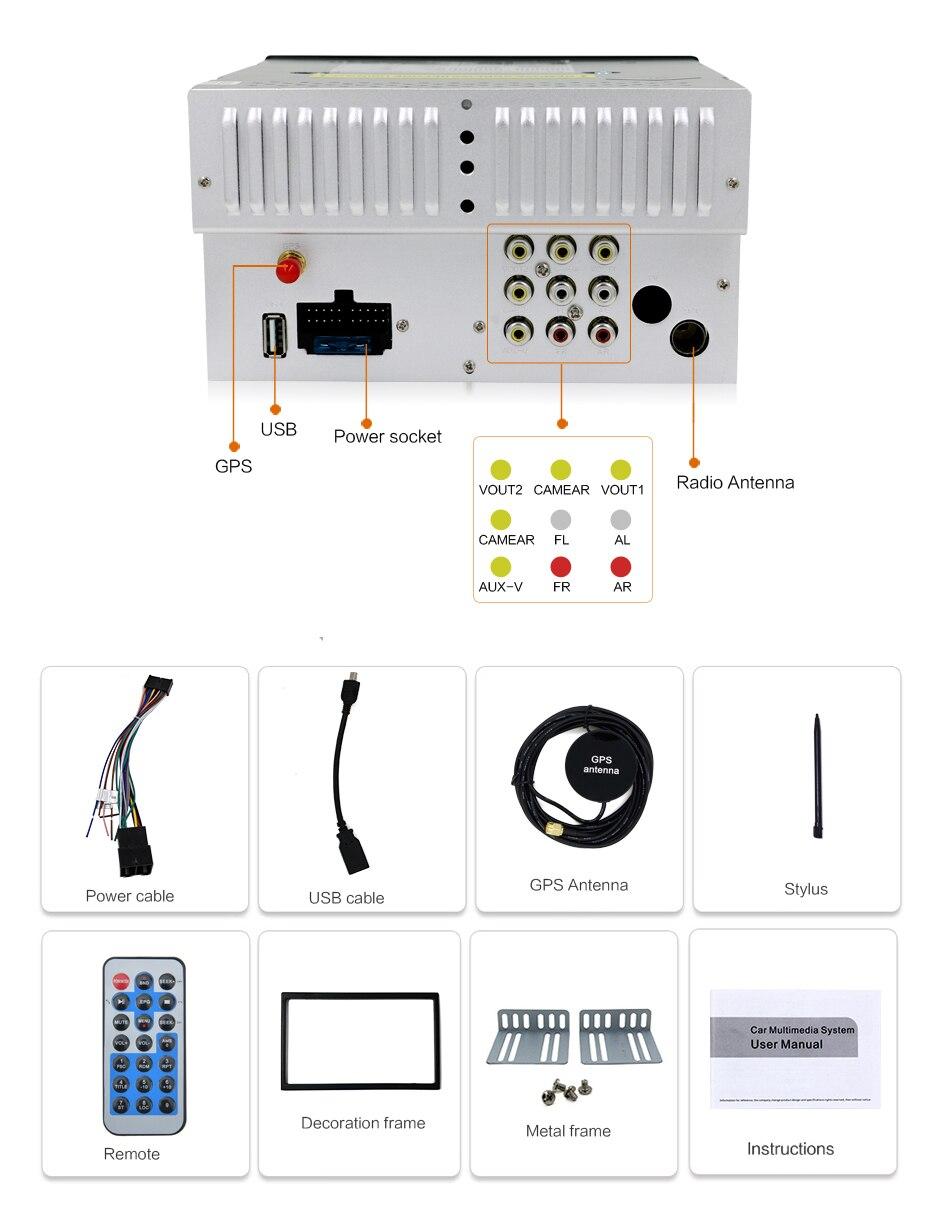 Auto DVD speler GPS Radio Bluetooth 2 din universeel voor X-TRAIL - Auto-elektronica - Foto 6