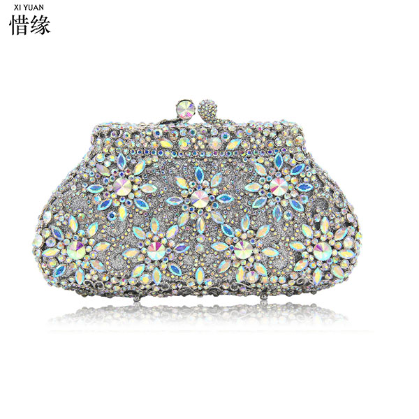 XIYUAN BRAND party wedding prom evening clutch bags luxury diamond clutch  evening bags studded crystal wedding Bride party purse a2bfa6dcfcc9