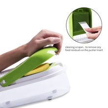 Multifunction Vegetable Slicer and Chopper with 8 Dicing Blades