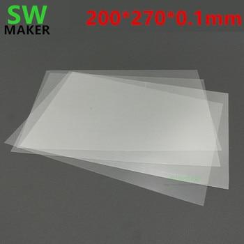 1 قطعة Wanhao الناسخ 8 D8 3D طابعة ورقة FEP FEP فيلم 0.1 مللي متر سمك 200x270 مللي متر