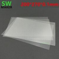 1 pces wanhao duplicador 8 d8 impressora 3d fep folha fep filme 0.1mm espessura 200x270mm
