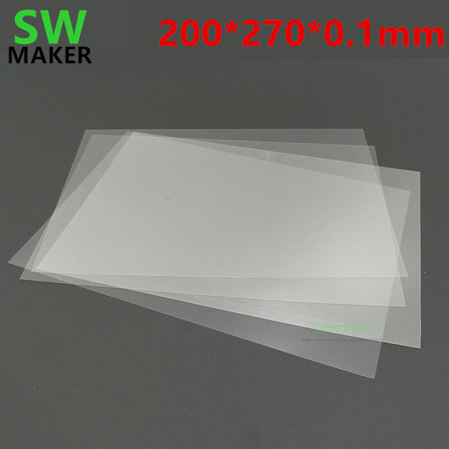 1pcs Wanhao Duplicator 8 D8 3D Printer FEP Sheet FEP Film 0.1mm thickness 200x270mm