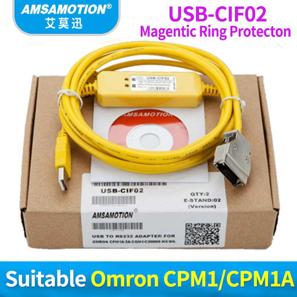 USB-CIF02 Adapter USB CIF02 For Omron CQM1-CIF02 USB TO RS232 Suitable CPM1/CPM1A/CPM2A/CPM2AH/C200HS Series PLC цены
