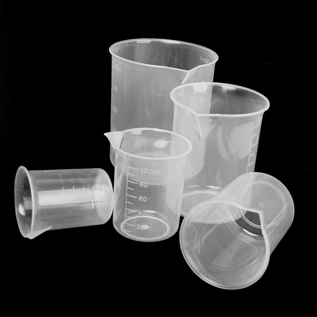 Affordable 50 100 / 150 250 500ml Transparent Plastic Beakers Graduate