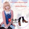 Free Shipping Kyokai no Kanata Cosplay Costume Kuriyama Mirai Uniform Top + Skirt / Sweater/wigs/shoes