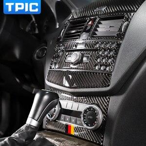 Per mercedes classe C W204 In fibra di Carbonio Interni Trim Uscita CD Pannello di controllo di Aria Condizionata Centrale Auto adesivi e decalcomanie(China)