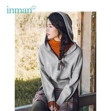 אינמן חורף חדש הגעה נקבה גבוהה צווארון Fit מותניים אלגנטי נשים בסוודרים סוודר