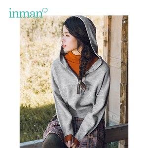 Image 1 - INMAN hiver nouveauté femme col haut coupe taille élégante femmes pull pull