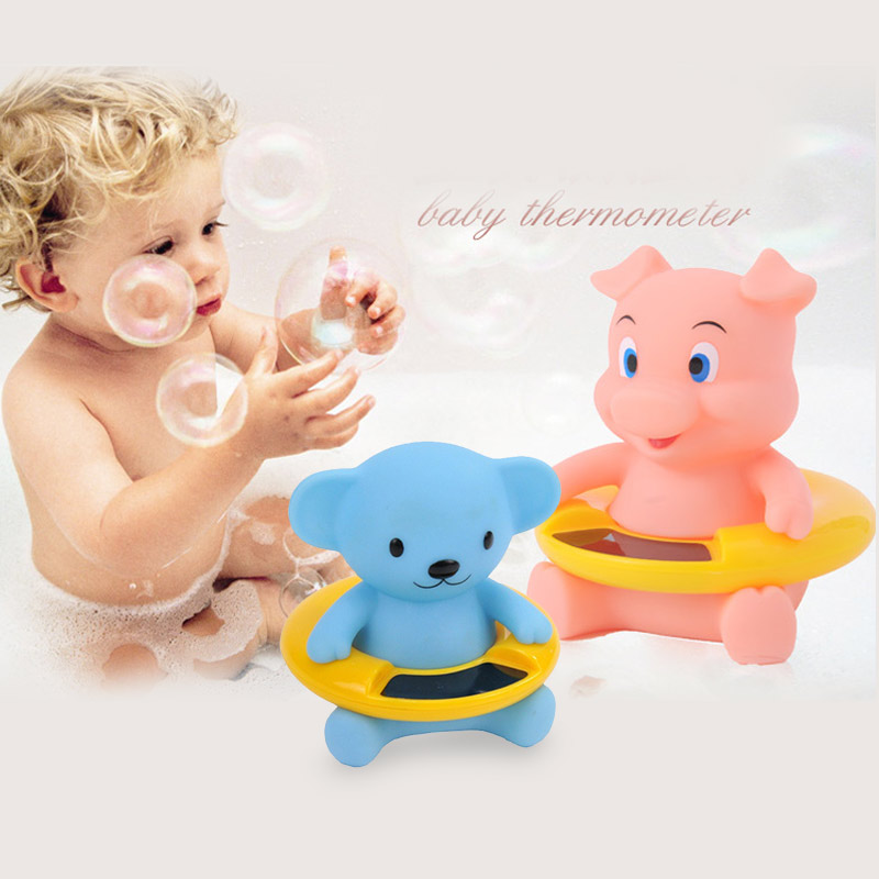 New Cartoon baby temperature test paper medical silicone digital Water Thermometers Baby Monitor tester thermometer 1PCS